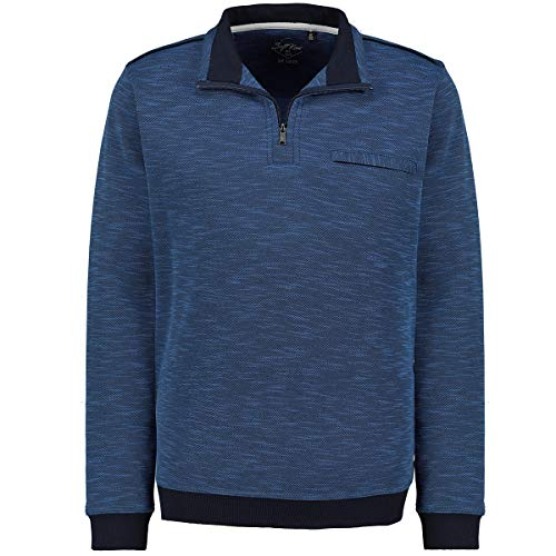 hajo Sweatshirt Langarm Sweat Stay Fresh Softknit de Luxe 26753 609 blau, Größe:62 5XL