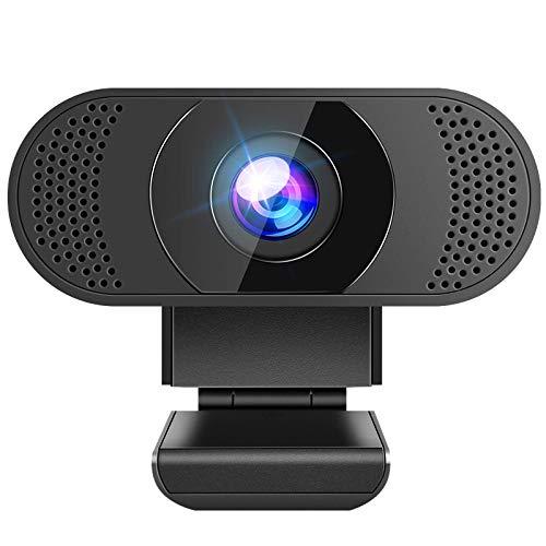 Anykuu Webcam per PC Full HD 1080p con Microfono Compatibile Windows per Laptop Desktop Video Chat Gioca Giochi Lavoro Casa Plug And Play USB Camera