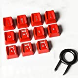 Suitable for Logitech Romer-G Switch 11-Key Romer-G Backlit keycaps and Logitech G910 G413 G512 G513 K840 GPRO G810 G413 G310 G613 Mechanical Keyboard Performance Game Key Cap Replacement (red)