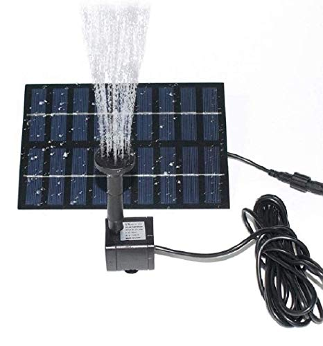 COSSCCI Solar Fountain Water Pump for Bird Bath 1.8W Solar Power Fountains Outdoor Fountain for Small Pond, Pool,Patio Garden