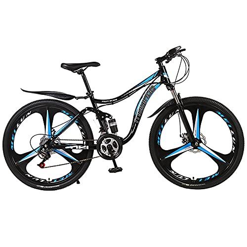 26 Pulgadas Adulto MTB Bicicleta, 21 Velocidades 3 Cuchillos Rueda Montaña Rueda Bicicleta Bikes, Doble Disco Freno