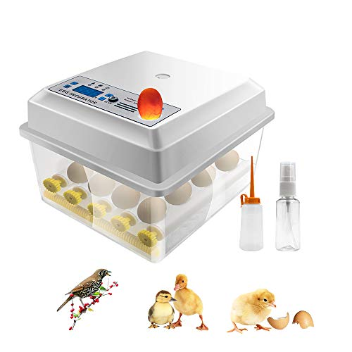 Egg Incubator Hatching 16 Eggs with Automatic Turner for Hatching Turkey Goose Quail Ducks Chicken Eggs,Built-in Egg Candler Tester,Small Egg Hatcher Machine by Safego
