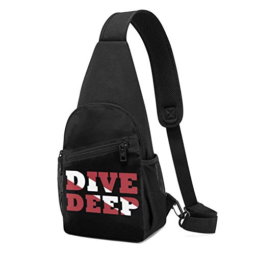 DJNGN Scuba Diving Deep Dive Flag Chest Backpack Chest Pack Ultra Lightweight Backpack