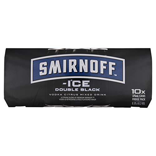 Smirnoff Ice Double Black 375 ml (Pack Of 10)