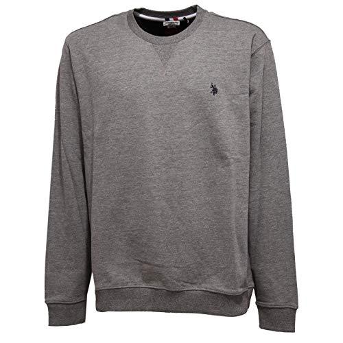 U.S. POLO ASSN. 3532K Felpa Uomo Grey Cotton Sweatshirt Man [XXL]