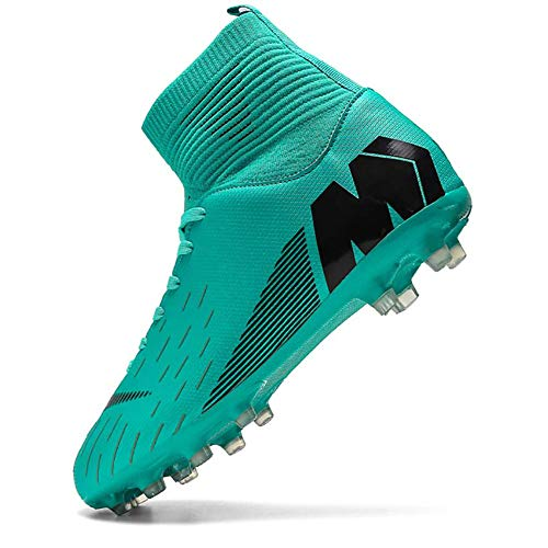 Niber Kids & Mens Athletic Hightop Cleats Soccer Shoes Football Team Turf Lightweight Running Outdoor Comfortable Training Football Shoes