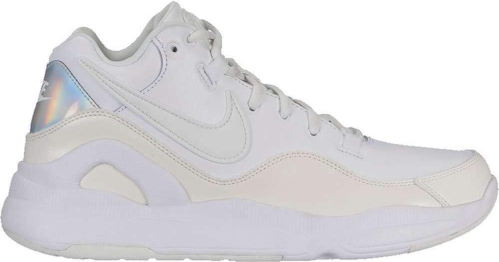 Nike Men's Dilatta Premium Basketball Shoe White/Summit White/Sail/Wolf Grey Size