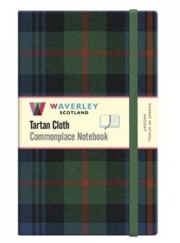 Murray of Atholl:: Waverley Genuine Tartan Cloth Commonplace Large Notebook (21cm x 13cm)