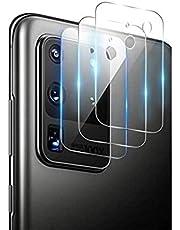 QULLOO Verre Trempé pour Samsung Galaxy S20 Ultra Caméra Arrière Protecteur [3 Pièces], [sans Bulle][Couverture Maximale] Caméra Protecteur D'écran Film pour Galaxy Samsung Galaxy S20 Ultra