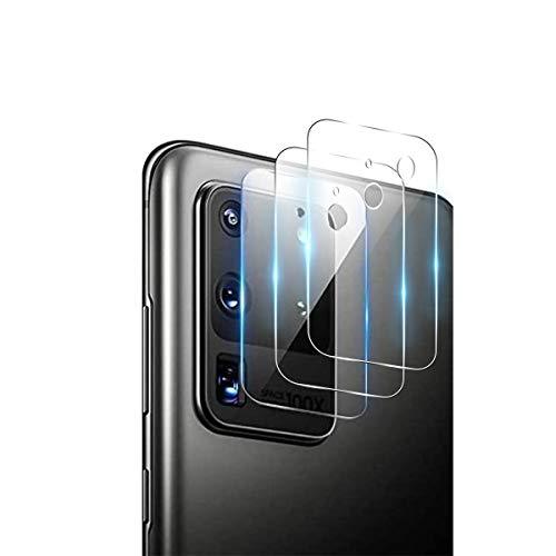 QULLOO Kamera Panzerglas Schutzfolie kompatibel mit Samsung Galaxy S20 Ultra, [3 Stück] Kamera Linse Anti-Kratzen Kameraschutz für Samsung Galaxy S20 Ultra