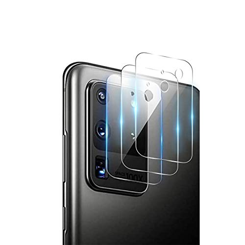 QULLOO Cámara Trasera Lente para Samsung Galaxy S20 Ultra, Protector Cámara [Alta definición] Cristal Templado para Samsung Galaxy S20 Ultra 5G Smartphone - 3 Piezas
