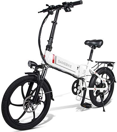 Bicicleta de montaña eléctrica de nieve, bicicleta eléctrica plegable 48 V 10.4 AH, 350 W para ciclismo al aire libre, viajes, trabajo y desplazamiento, batería de litio para adultos