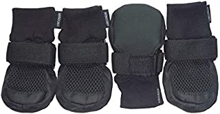 LONSUNEER Dog Boots Breathable Protect Paws Soft Nonslip Soles in 5 Sizes