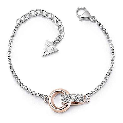 Indovina Bracciale Embrace placcato oro chirurgica in acciaio inox cerchi rosa UBB78090-S [AC1123]