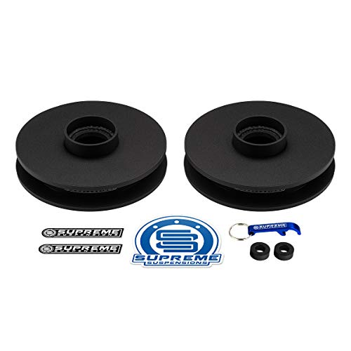 """Supreme Suspensions - Rear Leveling Kit for Ram 2500 1"""" Rear Lift Kit High-Strength Steel Spring Spacers 2WD 4WD"""