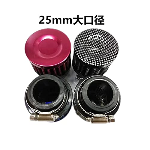 Plum Blossom yu SPSLD Universal 12mm 25mm Car Air Filter Fit for Motorcycle Cold Air Intake High Flow Crankcase Vent Cover Mini Breather Filters (Color : 12MM Purple)