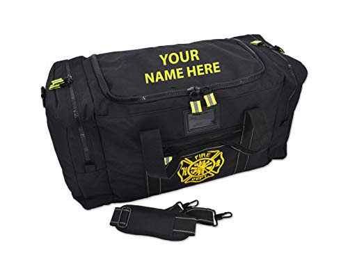 Lightning X Value Firefighter Turnout Gear Bag w/Maltese Cross and Custom Embroidered Name - BLACK