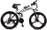 Bicicletas Eléctricas, Bicicleta de montaña eléctrica, 12Ah Gama de batería de litio de alta eficiencia de 12Ah de kilometraje de 30-50 km-altas Bicicleta eléctrica de acero al carbono de 26 pulgadas,
