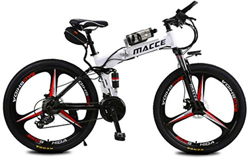 Bicicleta eléctrica de nieve, Bicicleta eléctrica eléctrica Bicicleta de montaña eléctrica Ebike de 26 pulgadas Neumáticos de 26 pulgadas Bicicleta eléctrica plegable 250W Watt Motor 21 velocidades Bi
