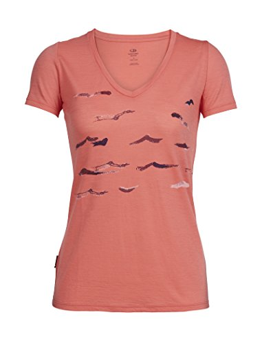 icebreaker, Damen-T-Shirt mit Tech-Lite-Technologie & R&halsausschnitt, geringes Gewicht XS tulpe