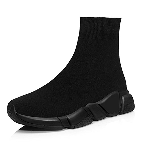 RoseG Herren Damen Mode Sliper Schuhe Unisex Leichte Atmungsaktive Sneakers Outdoor Turnschuhe Schwarz Size36