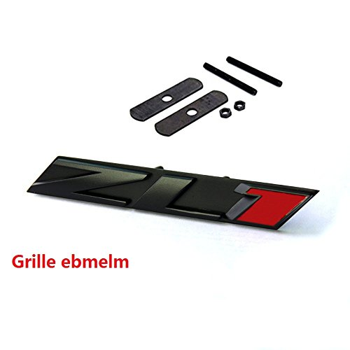 Yoaoo 1x Grille Zl1 Emblem Badge Letter Zl1 Grill Replacement for Camaro Ss Rs Matte Black Red