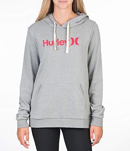 Hurley W O&O Fleece Pullover Sudadera, Mujer, dk Grey Heather, XS