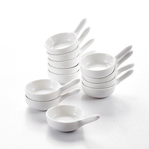 MALACASA, Serie Ramekin.Dish, 12 Piezas 9.5 cm (9.5 * 6 * 4 cm) Vajilla de Porcelana...