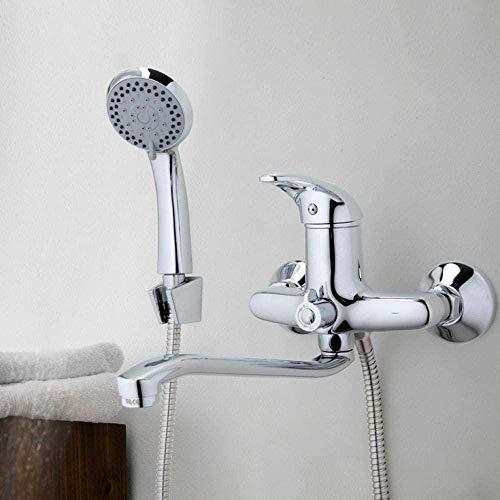 Waterkraan kraan afvoerbuis chroom badkamer douche waterkraan messing badkamer met douchekop