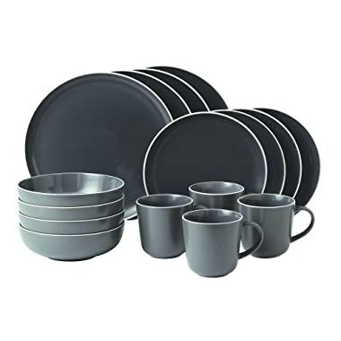 Gordon Ramsay 16-Piece Bread Street Dinnerware Set, Slate