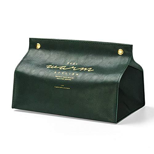 yxr Caja de pañuelos de cuero para sala de estar, creativa estilo nórdico para restaurante y hogar, caja de bombeo