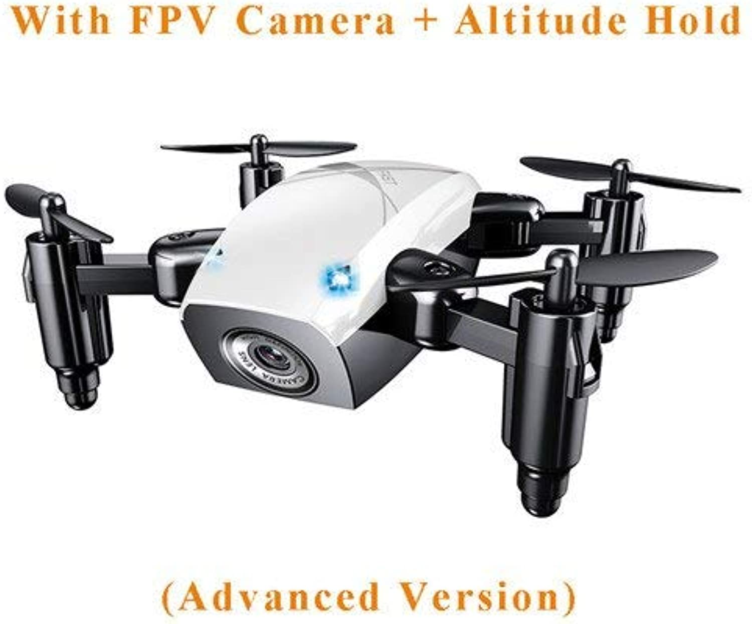 Generic S9 S9W S9HW Foldable RC Drone Mini Drone Micro Pocket Drone RC Helicopter Quadcopter with HD Camera Altitude Hold WiFi FPV Dron White White Camera