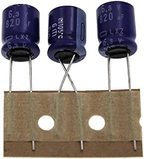 20x Chimique Condensateur 820/µF 6,3V 105/°C ; ELXZ6R3ETD821MJC5S ; 820uF