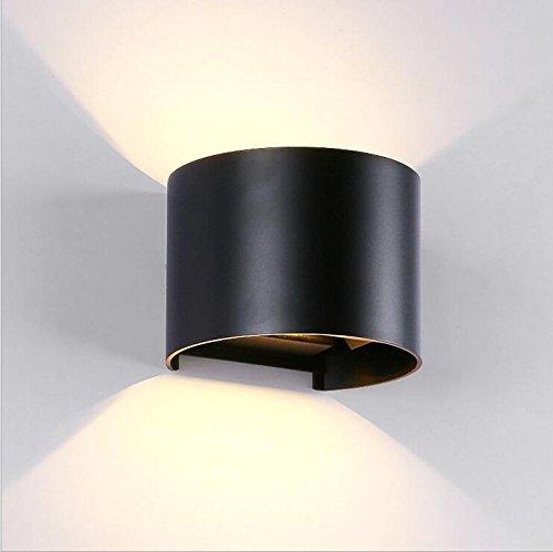 7W LED Wall Light Up Down Lampe murale Outdoor Indoor Warm White Angle de faisceau réglable pour Hall d'entrée Salon Chambre Jardin Voltage: 85-265V, 3
