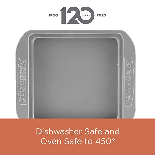 Farberware Nonstick Bakeware Baking Pan With Lid / Nonstick Cake Pan With Lid, Rectangle - 9 Inch x 13 Inch, Gray