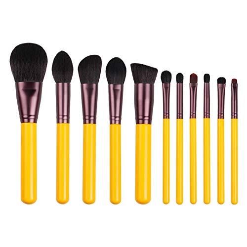Pinceaux Maquillages Pinceau De Maquillage Série Jaune 11pcs
