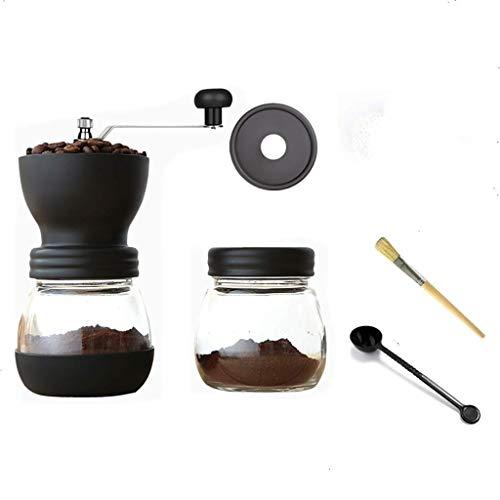 WCJ Handkoffiemolen, traploos in hoogte verstelbare koffiemolen met conische keramische boor, glas-glas, roestvrij staal Built to Last
