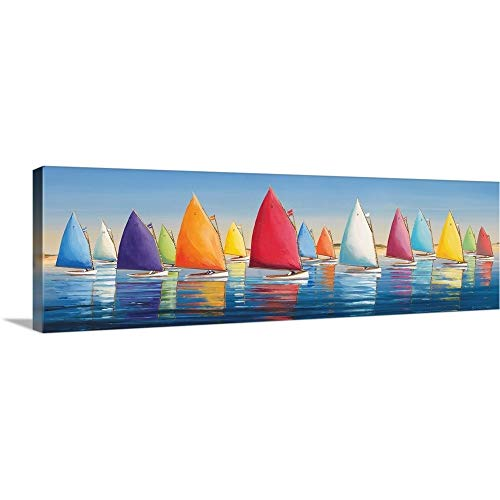 "Flying Colors Canvas Wall Art Print, 60""x20""x1.25"""