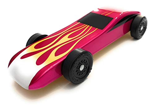 Maximum Velocity Pinewood Car Kit | Includes CNC'd Body, Speed Wheels, Speed Axles, Graphite & Steel Weight | Sports Car Derby Car Kit