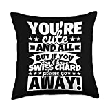 Swiss chard Lover Food Funny Throw Pillow, 18x18, Multicolor