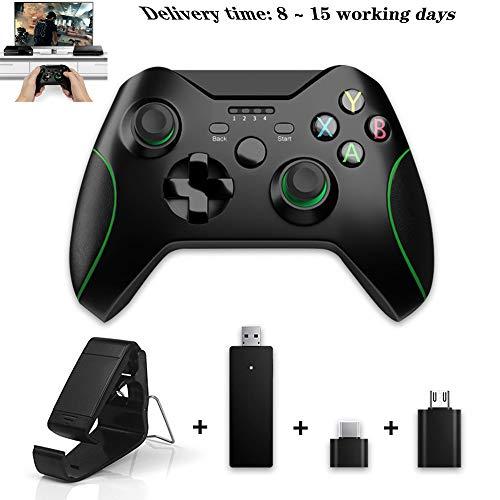 CDwxqBB Drahtloser Controller, Geeignet Für Xbox One-Host / PS3 / PC/Android / WIN2000 / 8/7 / XP-System Mit 2.4G Drahtlosem Vibrationsbeschleunigungs-Gamecontroller.