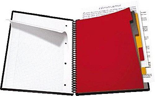 Oxford Collegeblock Organiserbook/357001801, kariert, 80g/qm, DINA4+, 90Blatt
