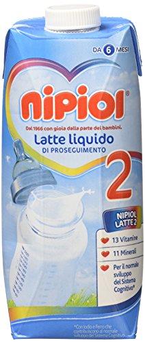 Nipiol Latte Liquido 2 - 12 confezioni da 500 ml - Totale: 6 l