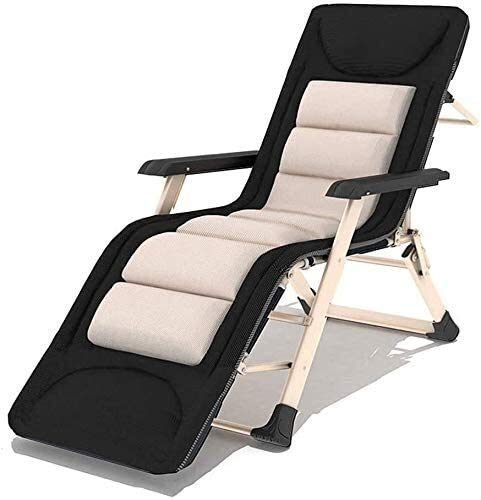 Patio Lounger Silla cero gravedad reclinable silla jardín reclinable reclinable plegable reclinable silla oficina sala de estar balcón rocker resto para comida al aire libre silla de playa + reposacab