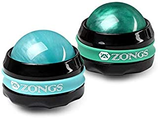 Massage Ball Manual Roller Massager 2-Pack Self Massage Therapy Tool for Sore Muscles, Shoulders, Neck, Back, Foot, Body, Deep Tissue, Stiffness, Joint Pain Relief  (Blue&Green)