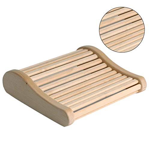lingzhuo-shop Sauna Bamboe hoofdkussen hoofdsteun sauna instelling sauna leuning arc hout slaapverbeterende hoofdsteun voor de badkamer 45 38 7,5 cm