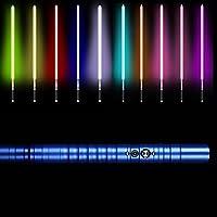 アルミ合金ハンドルライトセーバー、3モードサウンドで変更可能なRGB 11色、スターウォーズグローイングサウンドおもちゃギフトコスプレおもちゃライトセーバー blue