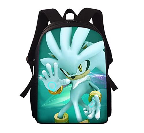 Bolsa Escuela Sonic Mochilas escolares para niños para mochila azul Mochila con impresión sónica Mochila de hombro para niños Mochila para estudiantes