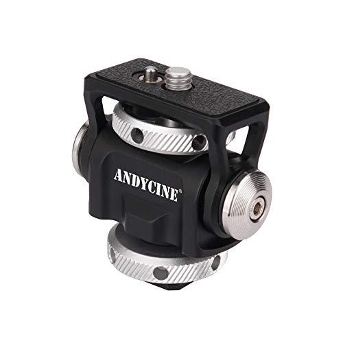 ANDYCINE - Supporto per monitor da campo con pattina fredda e rimbalzo Arri, perno di posizionamento per telecamera da campo inclinabile a 180° e girevole a 360°