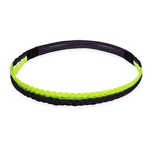 Black Temptation Femmes/Hommes Yoga Headband Non-Slip Hair Band Headwear Sport Noir Fluorescent